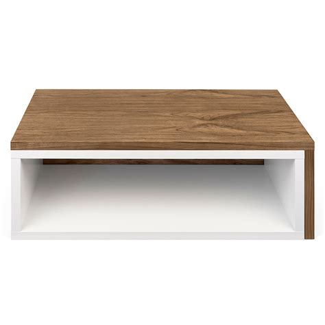 Walnut And White Coffee Table Jazz White Walnut Modern Coffee Table By Temahome Eurway
