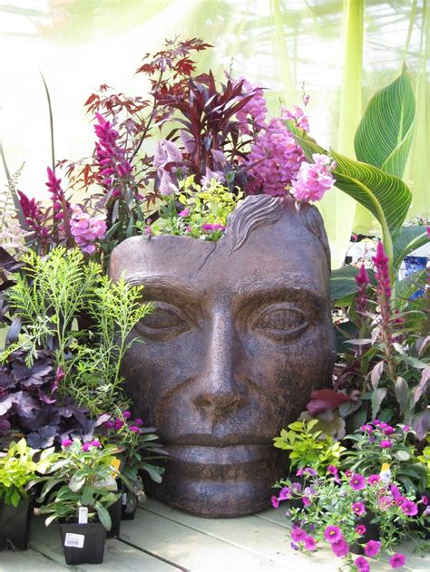 large head planters 135 best images about head pots face pots container
