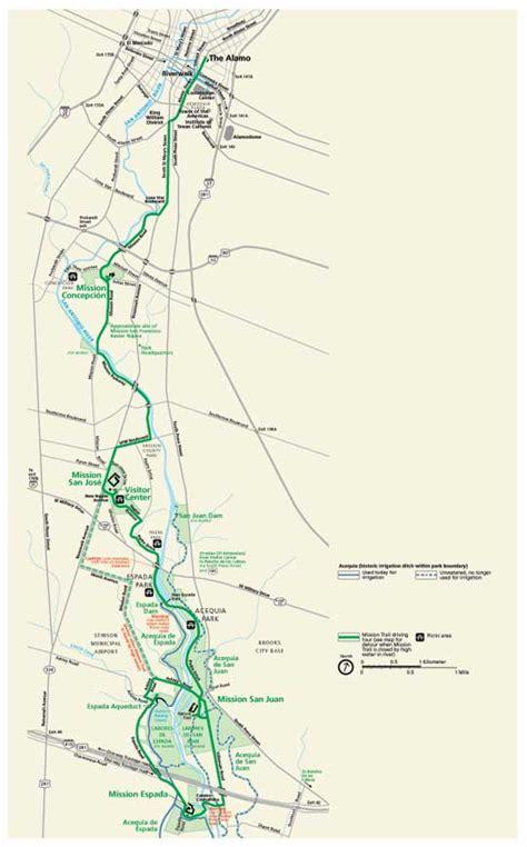 san jose bike trails map san antonio missions national historical park map