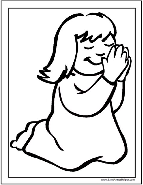 little girl praying coloring page catholic prayers are easy to learn catholic rosary videos