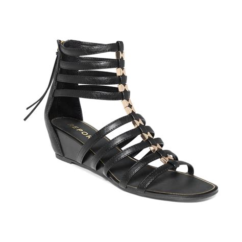 gladiator wedge sandals report megan gladiator wedge sandals in black lyst