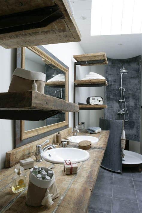 Rustikales Badezimmer by 25 Ideen F 252 R Rustikale Badezimmer Aus Holz Und Naturstein