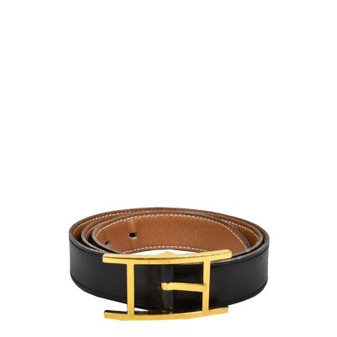 ewa lagan hermes hapi belt box black togo gold gold 80 cm
