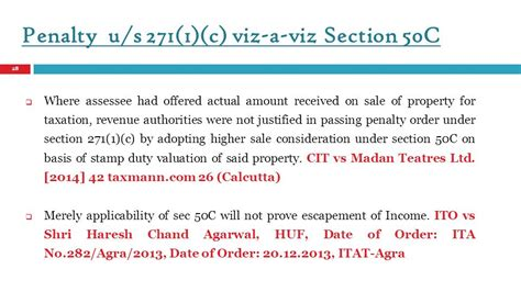 Section 56 Of Income Tax Act 2013 by Section 50 C Of Income Tax Act Sale Consideration Vs