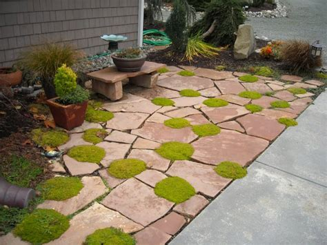 Small Flagstone Patio by Patio Landscaping Ideas