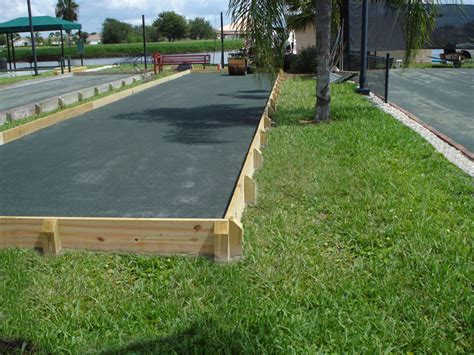 Build Bocce Court Backyard by Bocce Court Construction Search Bocce