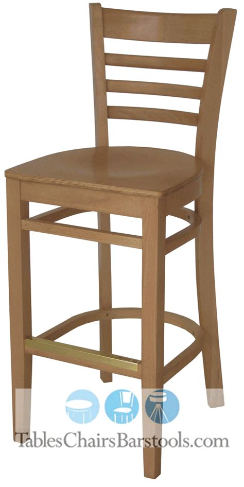 Commercial Wooden Bar Stools | gladiator commercial wooden natural ladderback restaurant