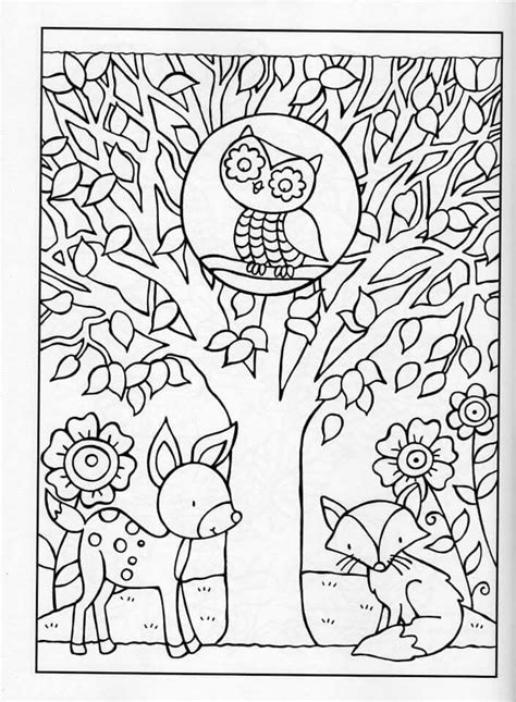 autumn animals coloring page coloring for adults and coloring on pinterest