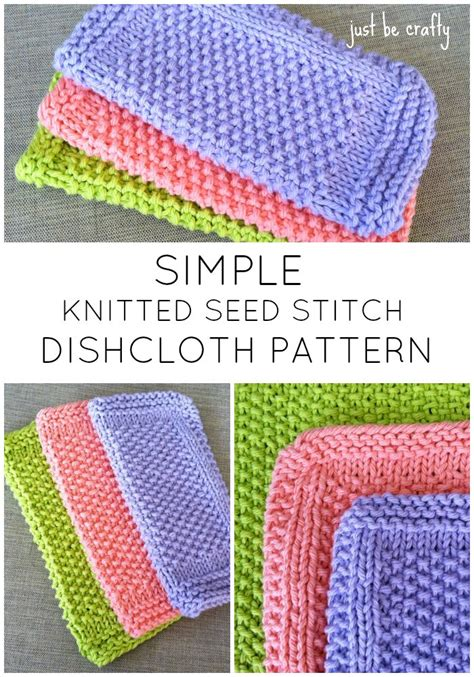 10 quick knitted dishcloth patterns free pattern seed stitch dishcloth knitting pattern by
