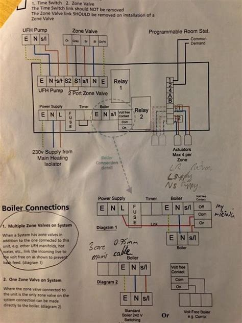 2 zone wiring diagram with underfloor heating wiring diagram