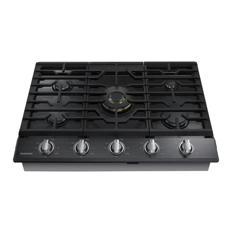 black gas cooktops frigidaire gallery 30 in gas cooktop in black with 4
