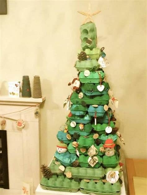 4h christmas tree from old egg carton this isn t buying presents for this year she s them metro news