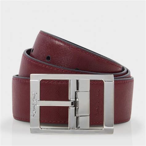 paul smith s navy and burgundy reversible saffiano