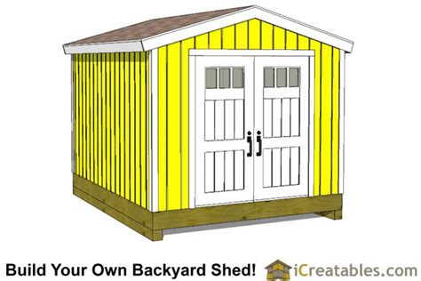 Shed Plans 10x12 by 10x12 Shed Plans Building Your Own Storage Shed