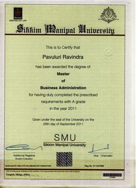 Post Mba Certificate Canada by Mba Degree Certificate Sle Images Certificate Design