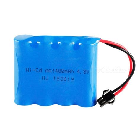 Battery Ni Cd Aa 1400mah 7 2v 4 8v 1400mah ni cd 4 aa 1 2v rechargeable battery with sm