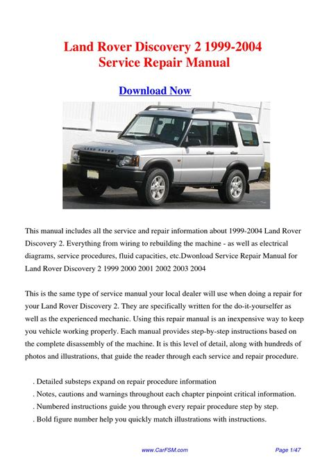 free download parts manuals 2003 land rover discovery on board diagnostic system download 1999 2004 land rover discovery 2 workshop manual by gong dang issuu