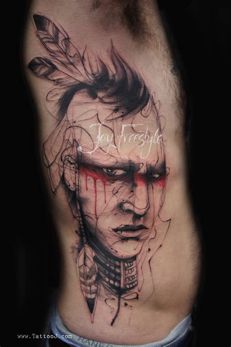 skull indian tattoo great american tattoos pictures tattooimages biz