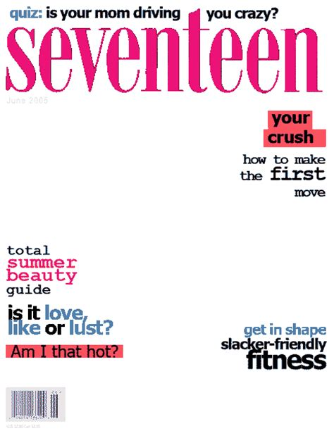 seventeen magazine cover template magazine covers ms choy s computer class