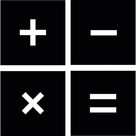 imagenes matematicas blanco y negro signos de operaciones matem 225 ticas dentro de cuadrados