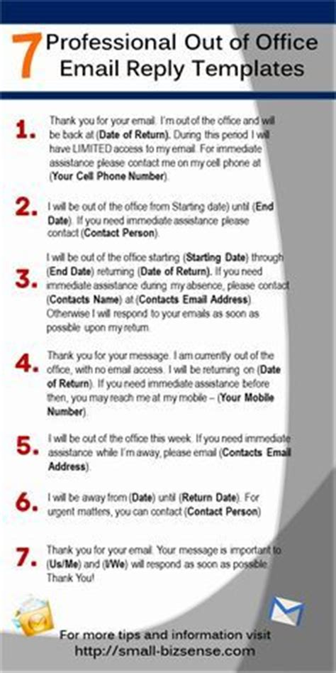 professional out of office message template 25 best ideas about executive office on