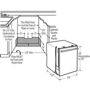 Dishwasher Height Guide Zbd6900vii Ge Monogram 174 Fully Integrated Dishwasher