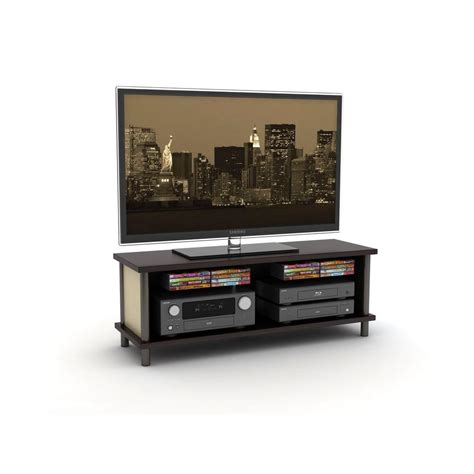 atlantic midtown espresso tv stand 88335752 the home depot