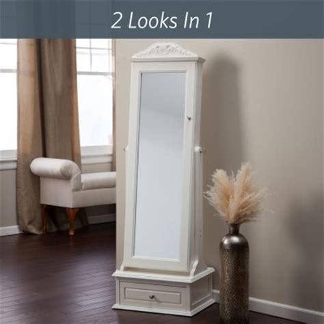 belham living swivel cheval mirror jewelry armoire white belham living removable decorative top locking mirrored