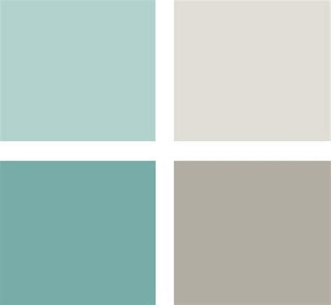 another soothing and serene palette this time with soft blue green tones and warm grays