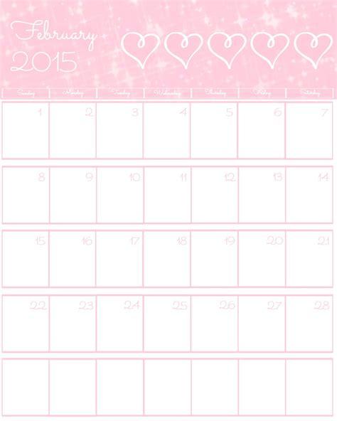 free calendar template february 2015 free 2015 printable calendar the bearfoot baker