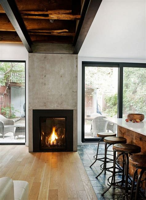 Wood Burning Fireplace Glass Doors Wood Burning Fireplace Designed Between Glass Sliding
