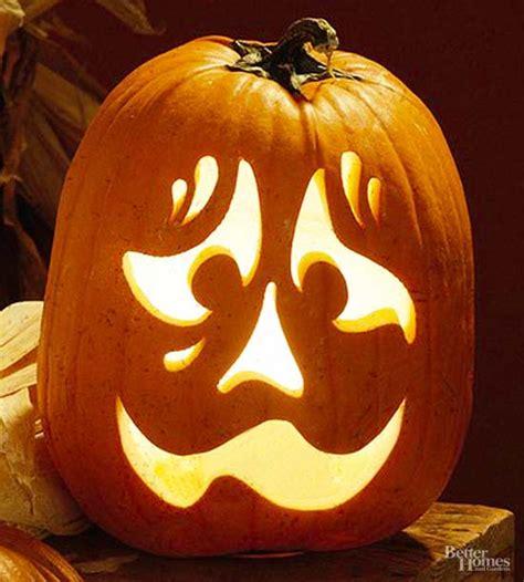 nervous face pumpkin stencil