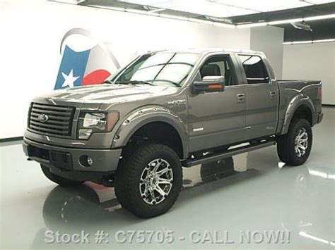2012 ford f 150 fx4 ecoboost white crew cab 20 inch wheels f 150 photo sell used 2012 ford f 150 fx4 crew ecoboost 4x4 lifted nav