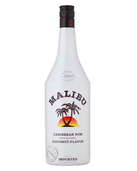 price of a bottle of malibu malibu carribean rum 1l cuba liquor store