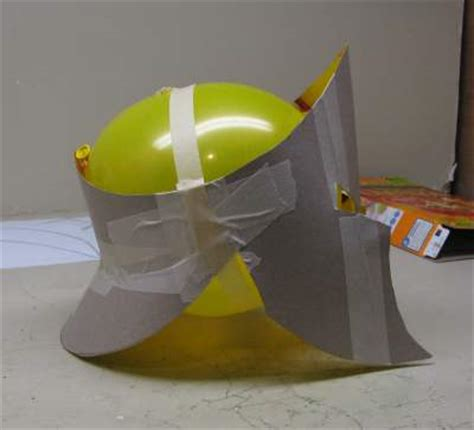 How To Make A Paper Helmet That You Can Wear - paper spartan helmet invitations ideas