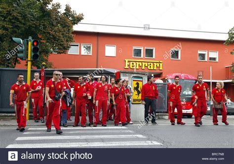 maranello italy ferrari workers factory entrance sign maranello maranello