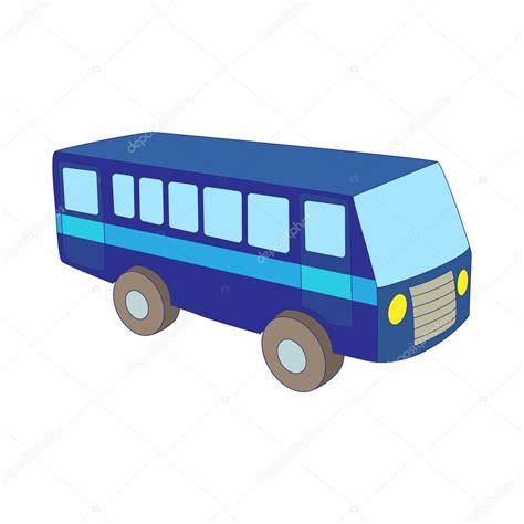 imagenes transporte escolar animado icono del autob 250 s azul en estilo de dibujos animados