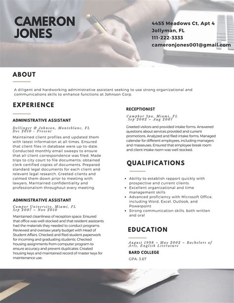 New Resume Format 2017