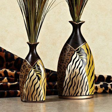 Leopard Print Vase by Safari Animal Print Ceramic Table Vase Set Serengeti
