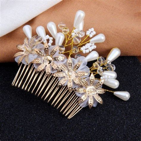 Wedding Hair Accessories Combs by Floral Wedding Hair Accessories Hair Combs 2692284 Weddbook