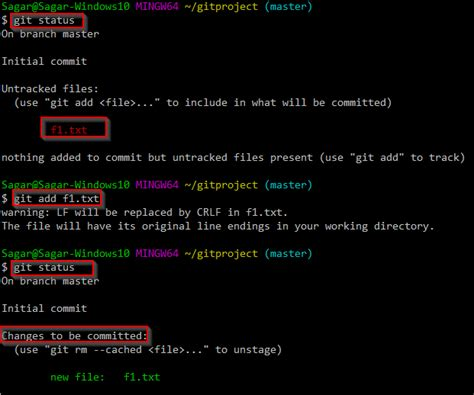 tutorial git add adding files into staging area in git free software