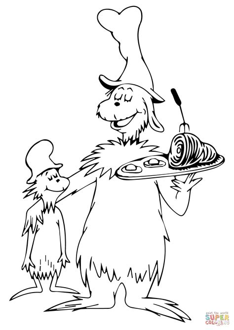 Green Eggs And Ham Coloring Page dr seuss coloring pages green eggs and ham az coloring pages