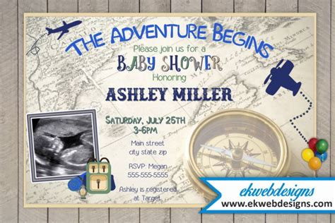 Sonogram Baby Shower Invitations by The Adventure Begins Baby Shower Invitation With Sonogram