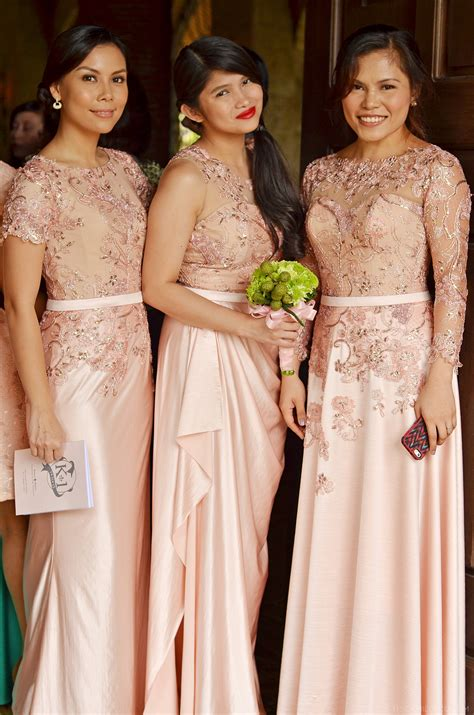 Garden Wedding Attire For Sponsors Lace Bridal Gown And Entourage By Camille Co Camille