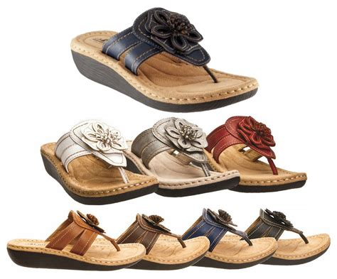 white mountain cliffs comfortable flowered wedge sandals 7