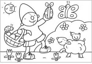 Kleurplaat Pompom Pasen Knutselen Kleuters Lente Sketch Coloring Page sketch template