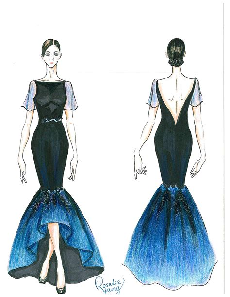 fashion design illustration of an original garment design ryerson