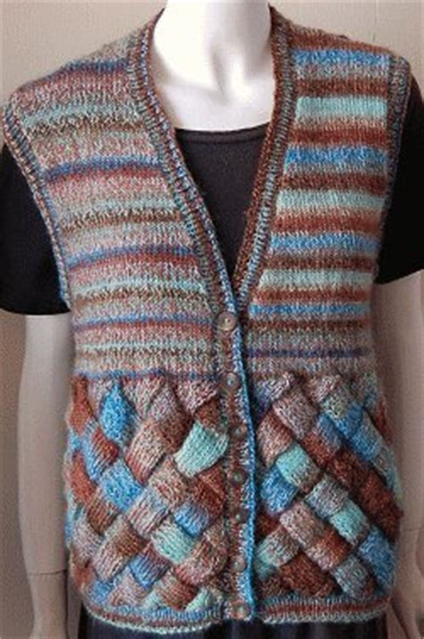 knitting pattern simple vest sweet and sassy entrelac vest allfreeknitting com