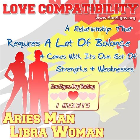 aries man and libra woman love compatibility sun signs