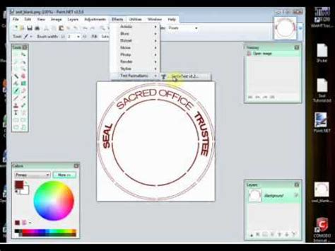 create rubber st free tutorial for trustees on trustee seal
